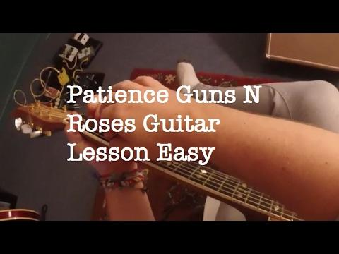 Easy Guns N Roses Songs On Guitar | Patience Easy Guitar Chords