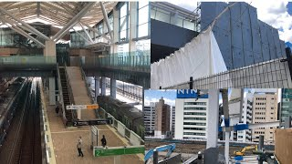 《1年足らずで見納め》新駅JR山手線・京浜東北線【高輪ゲートウェーイ駅】改札階へ向かう正面階段が解体されている❗