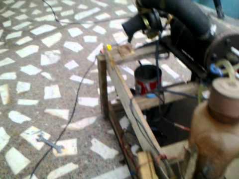 home made jet turbine engine for my bike           :) running on  kerosene/diesel