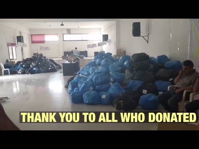 HIGHLAND SUPPORT FOR REFUGEES TO LEBANON AID CONTAINER UPDATE - 28th Aug 2016