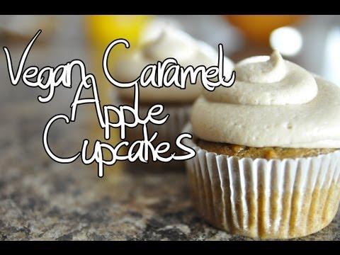 How To Make Vegan Caramel Apple Cupcakes (A Cupcake Addiction Vegetarian Baker Collab!)