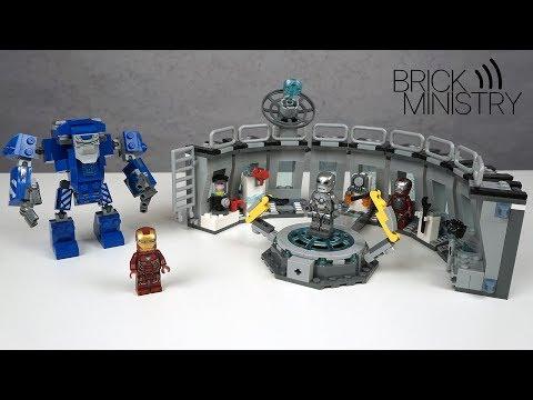Лего мстители финал лаборатория железного человека