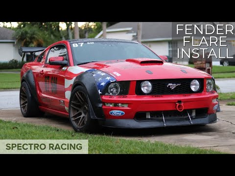 SUPER WIDE Mustang - Maier Racing Fender Flares Install: 335 tires! - Ultimate Street Mod Upgrades