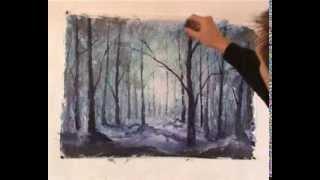 Как легко нарисовать картину Волшебный лес. Бесплатный мастер-класс.(Лучшие уроки живописи - http://urok.rybakow.com В данном бесплатном мастер-классе живописи маслом и мастихином вы..., 2013-12-20T16:53:34.000Z)