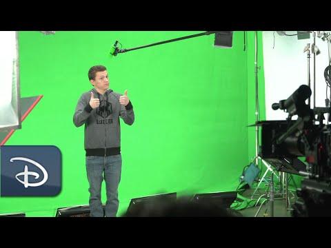 First Look: Tom Holland as Peter Parker in WEB SLINGERS: A Spider-Man Adventure | Disneyland Resort