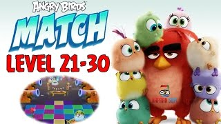Angry Birds Match - LEVEL 21-30 - SURPRISE PARTY - iOS/Android Mobile Game Gameplay - EP2