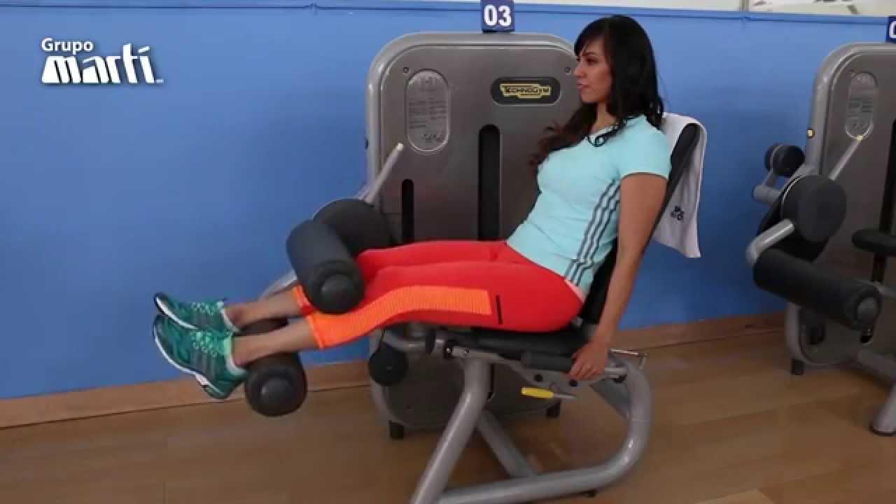 Flexión De Rodilla Sentado Rutinas041500 Youtube