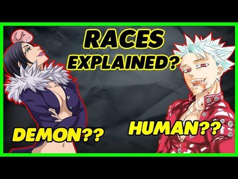 The Seven Deadly Sins ALL RACES EXPLAINED | Nanatsu No Taizai |