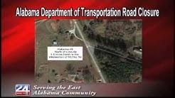 Alabama Department of Transportation Road Closure