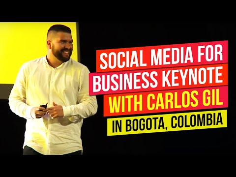 Social Media for Business Keynote With Carlos Gil at EXMA 2017 Colombia