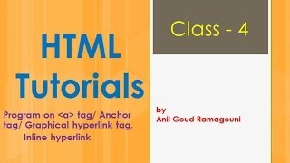 HTML - Inline hyper-linking or Bookmarks - Class 4.