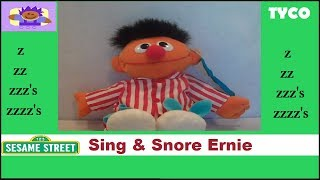 1996 Sesame Street Sing and Snore Ernie Plush By Tyco