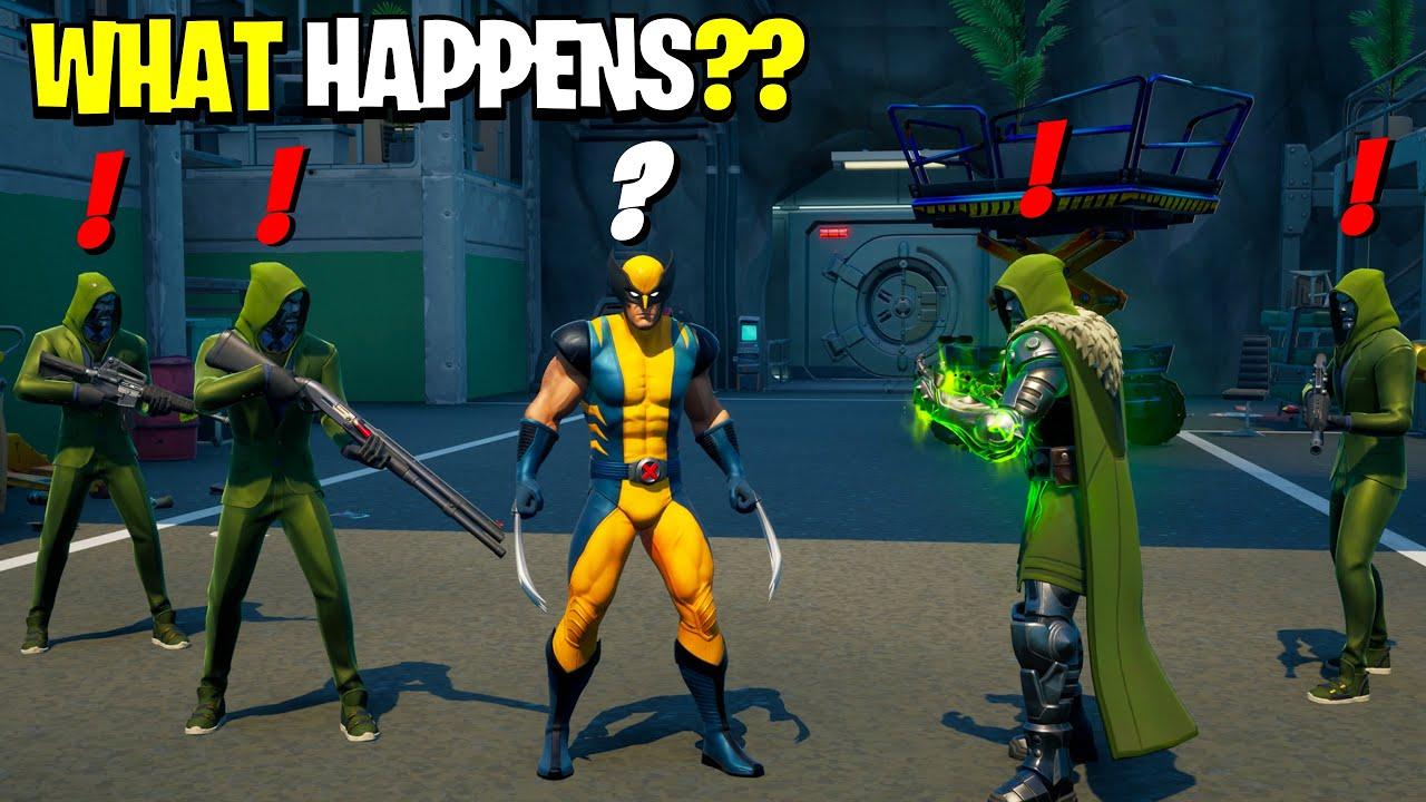 What Happens if ALL Henchmen & Doom Meet Wolverine in Fortnite! | Unexpected Outcome!