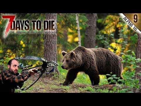 7 DAYS TO DIE A16 #9 | SEGUNDA HORDA Y CAZA DE OSO | Gameplay Español