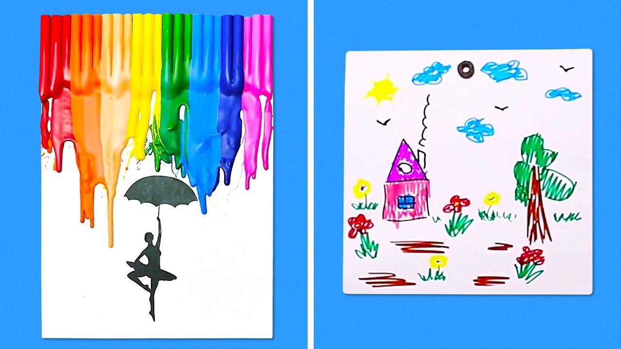 11 Unique Ideas For Kids Art Projects Youtube