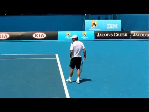 Blaz Kavcic Serve Australian Open 2012