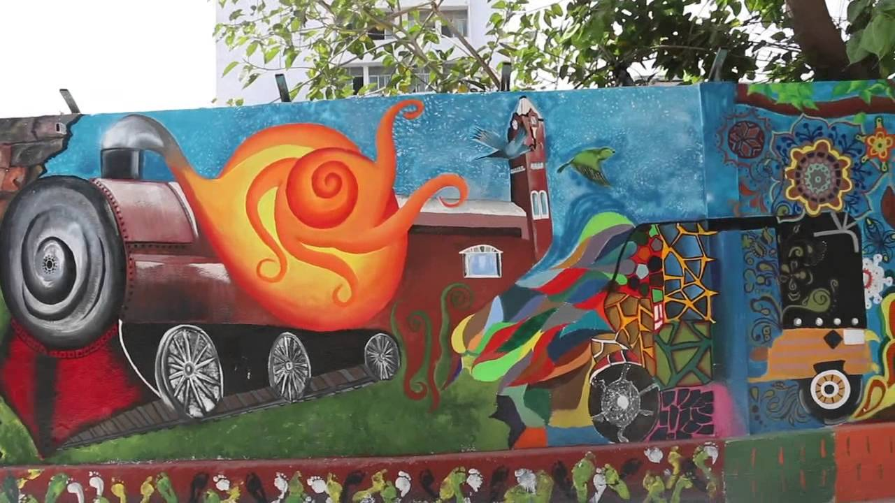 Wall Painting At Chennai Central Station By Nift Chennai Swachh