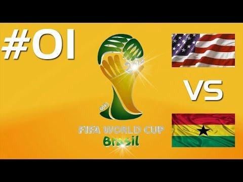 FIFA World Cup Brazil 2014 (Xbox 360)   #01 Group Stage - Ghana VS USA