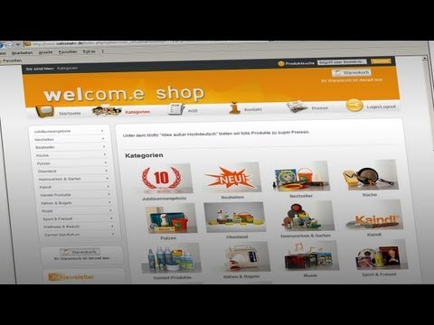Welcom.e Onlineshop Trailer