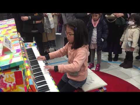 品川駅 ストリートピアノ 【ショパン 革命のエチュード】小3