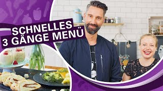 KOMPLETTES 3 GÄNGE MENÜ kochen in unter 1h