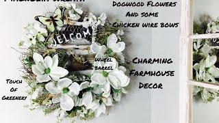 Farmhouse Style Magnolia Wreath/Farmhouse Style Spring Easter Decor DIY