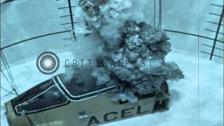 Safe underwater ejection from a downed fighter jet. HD Stock Footage