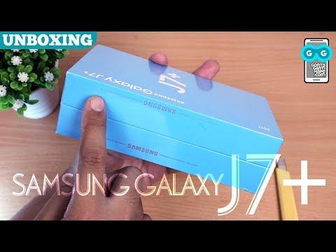 Unboxing Samsung Galaxy J7+ (J7 Plus) - Dual Kamera & Face Unlock ala Samsung