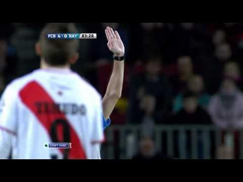 Barcelona - Rayo Vallecano Gerard Pique yellow card thumbnail
