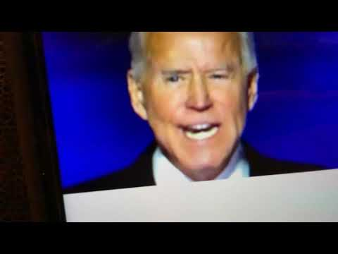 President elect USA Joe Biden on eagles wings