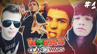 WORMS CLAN WARS! - REZI vs ISAMU vs MULTI vs NITRO!