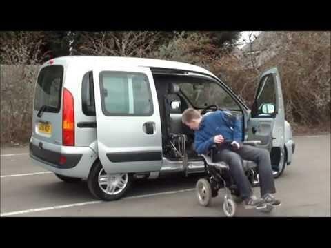 Специальный автомобиль и электроколяска для инвалидов