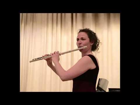 Manuel de Falla, Asturiana, Rebecca Kuehl, flute, Chris Funke, guitar