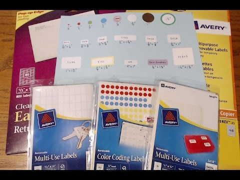 avery labels diy planner stickers youtube