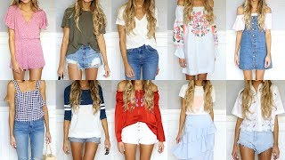 10 Quick & Easy Summer Outfits in Under A Minute! | Dani Austin