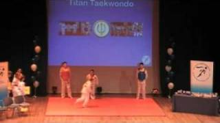Titan Taekwondo Display Ruislip in Hayes from Northolt Harrow Hillingdon 2009