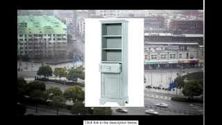 Sadie Linen Storage Cabinet 64.5 Hx20 Wx14 D Antique Blue