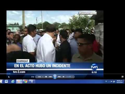 Juan Carlos Varela, pierde el control en Chiriquí