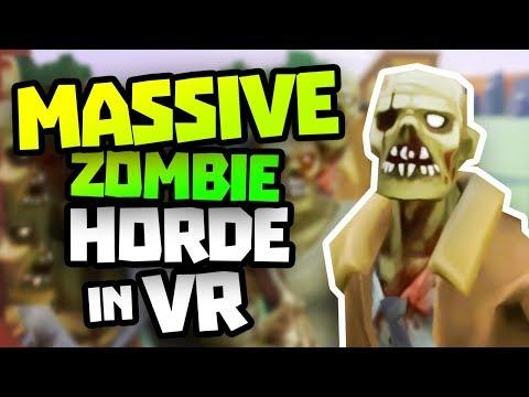 HUGE ZOMBIE HORDE! - Undead Development VR Gameplay Part 2 - VR HTC Vive Gameplay