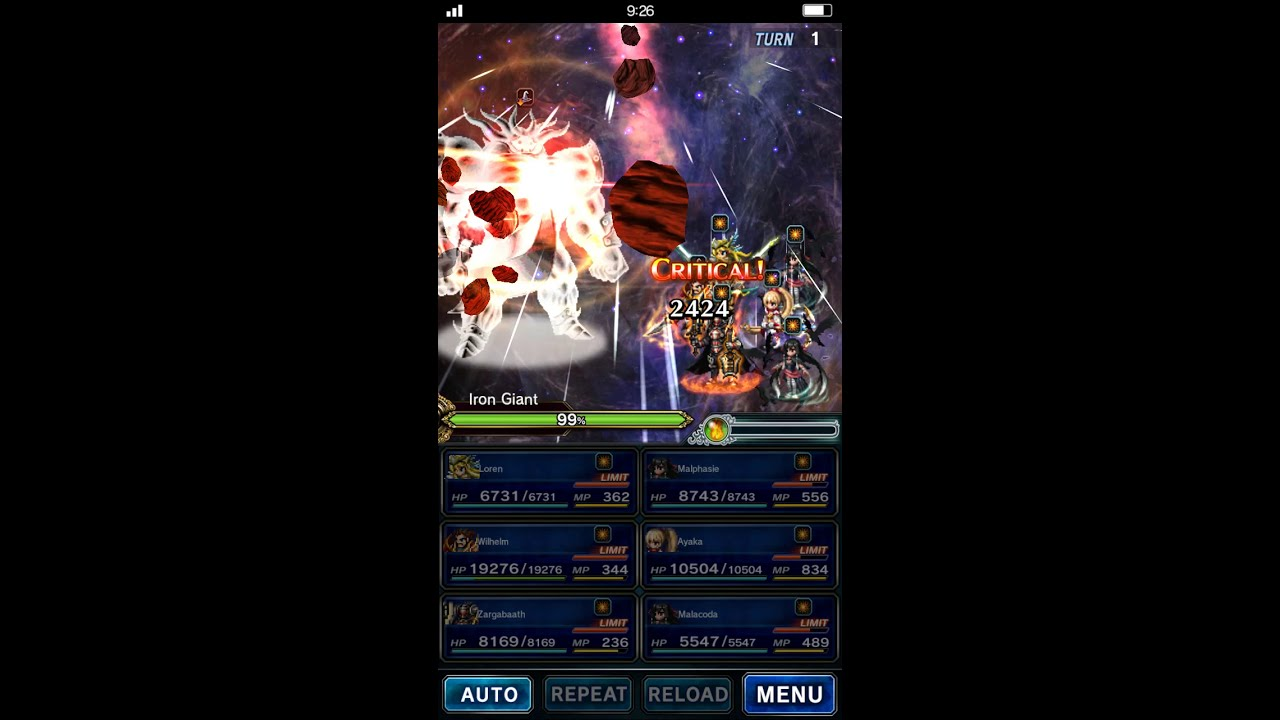Malphasie Two Turn Kill on Ironclad: Chain 120! ~ FFBE