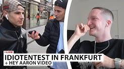 "Justin reagiert auf ""IDIOTENTEST IN FRANKFURT"" | Live - Reaktion"