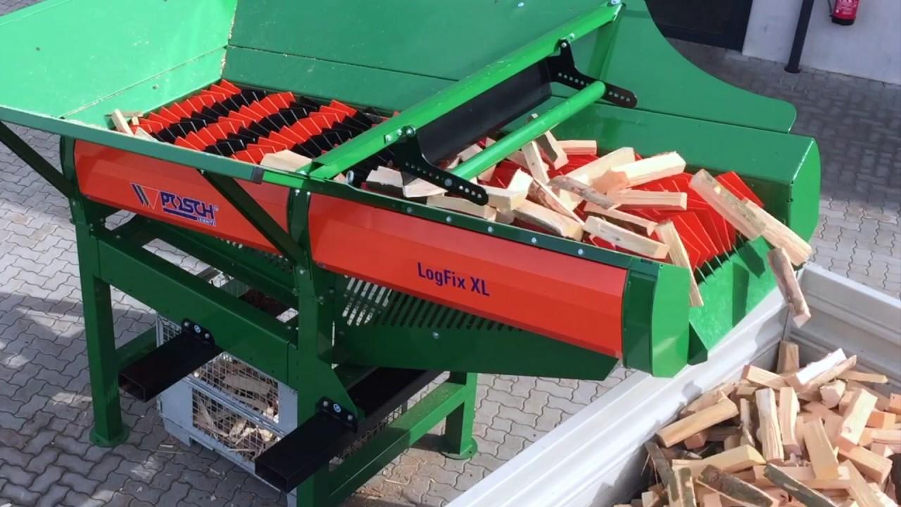 Mit dem Scheitholzreiniger LogFix XL im Handumdrehen sauberes Brennholz    POSCH Leibnitz