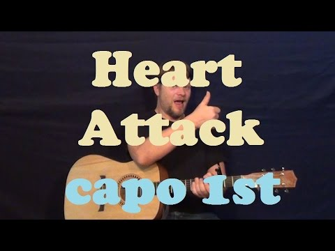 Heart Attack (Demi Lovato) Easy Guitar Lesson Strum Chords How to ...
