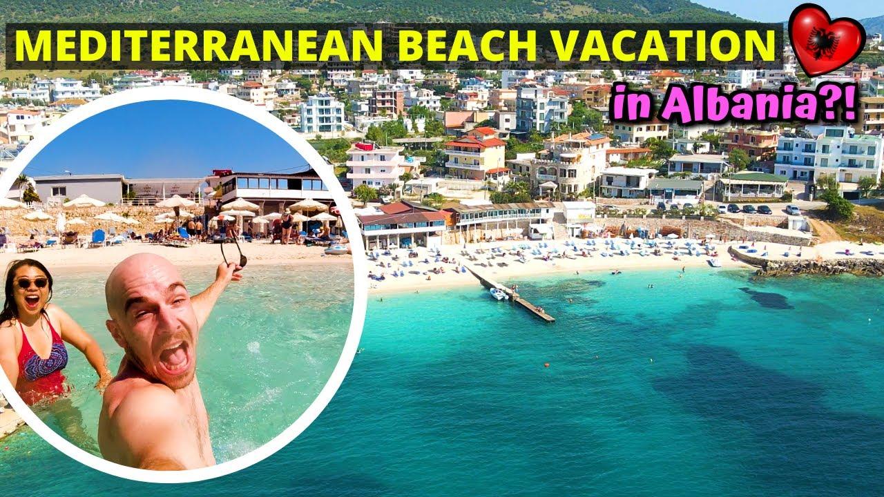 First impressions of Albanian beaches (Ksamil, Sarande) + Blue Eye - ALBANIA TRAVEL VLOG
