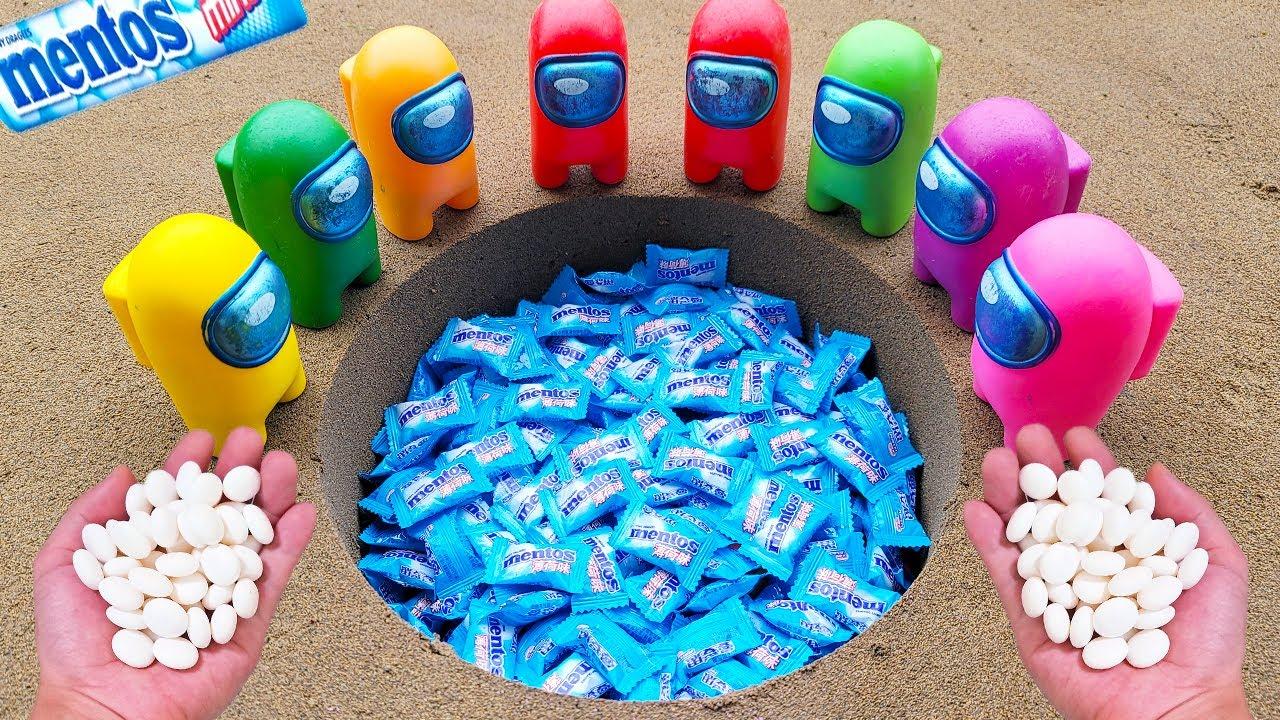 Schweppes Coca Cola, Different Fanta, 7up, Mirinda, Pepsi, Sprite and Mentos in big Underground