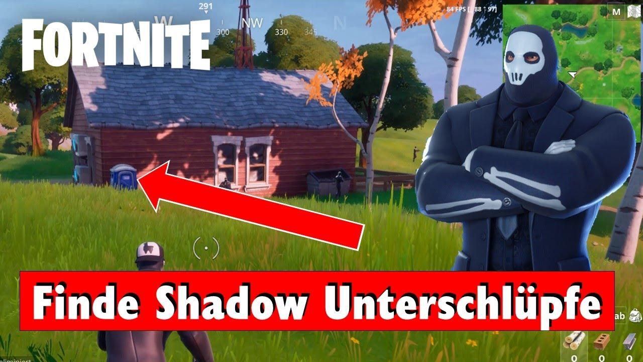 Fortnite Finde Shadow Unterschlüpfe