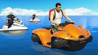 Cops Chase Me Down But I Have A Boat-Quad.. (GTA RP)