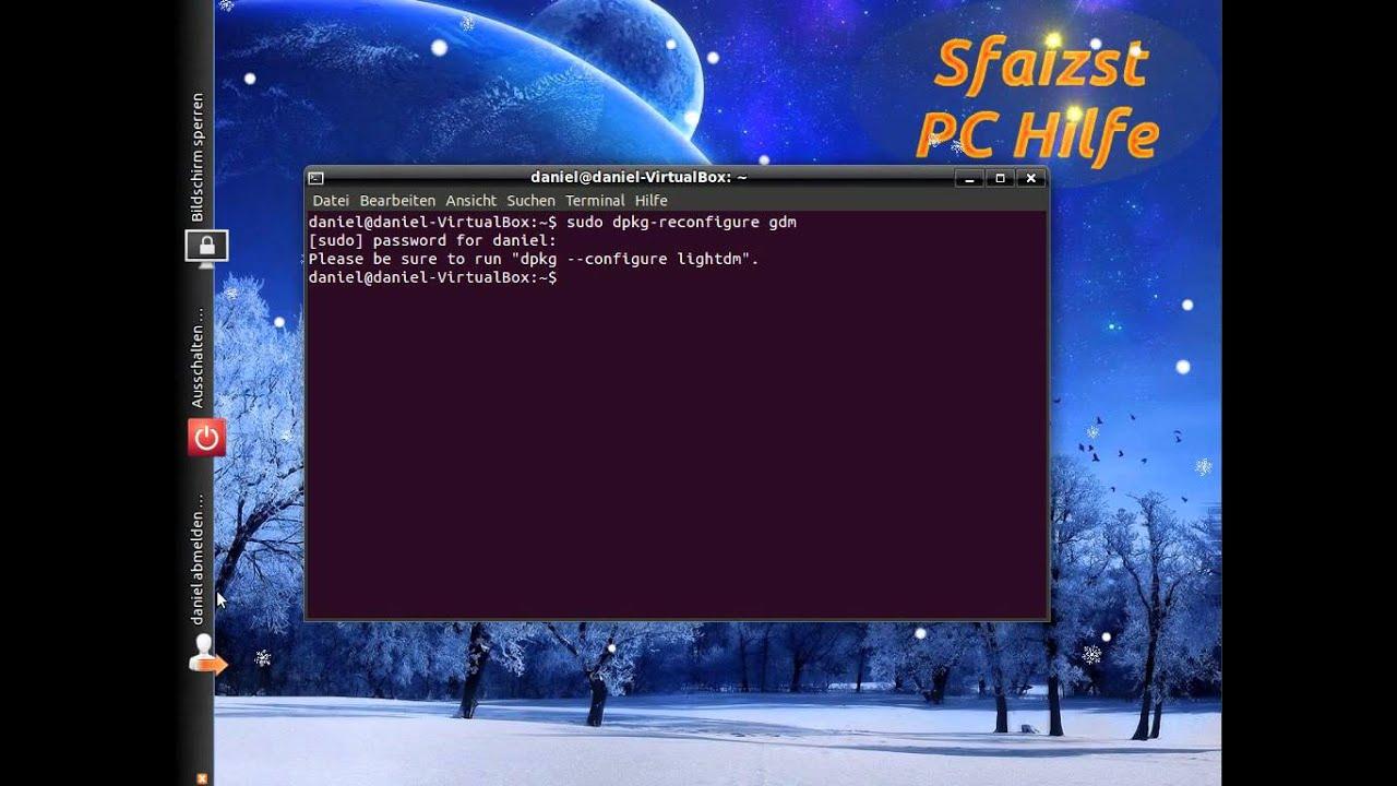 [Ubuntu 11 10] Wechsel zwischen den Login-Screens (GDM und LightDM)