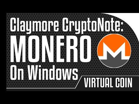BTC: Monero - Claymore CryptoNote CPU miner on Windows