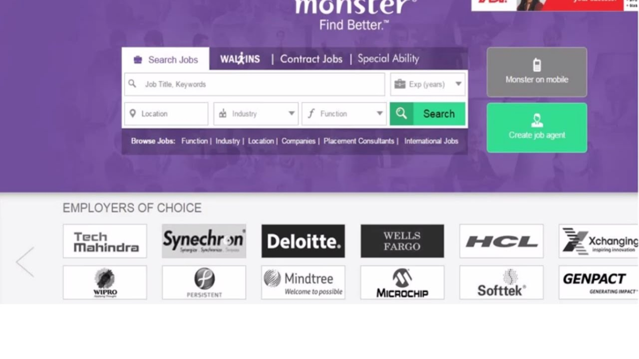 How To Delete Monster India Job Account ?